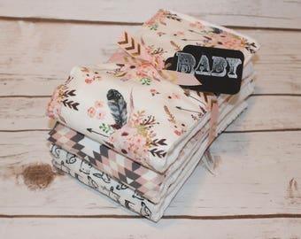 Modern Baby Burp Cloth~ Set of 3~ Baby Shower Gift