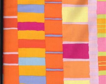 FREE SPIRIT ARTISAN layered stripe orange fabric