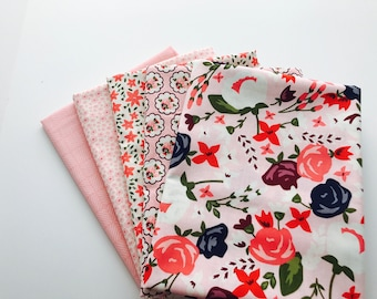 SALE!! 1 Yard Bundle Posy Garden by Carina Gardner for Riley Blake Designs - 5 Fabrics