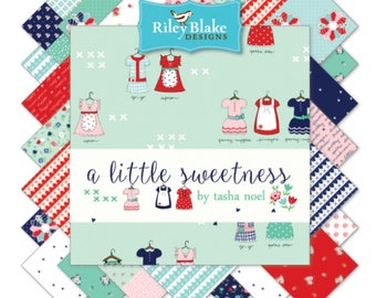 Half Yard Bundle A Little Sweetness bt Tasha Noel for Riley Blake Designs- 24 Fabrics