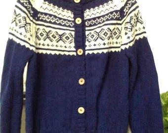 Vest wool jacquard