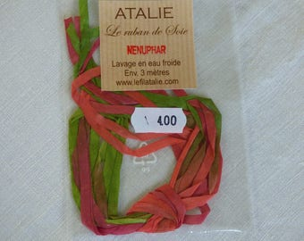 Water lily colour Atalie 4mm Silk Ribbon