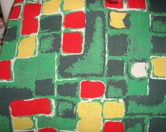 Cotton fabric geometric MARIGNAN old patterns