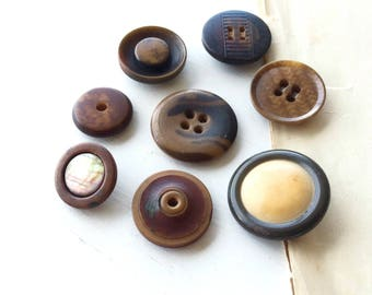 Antique vegetable ivory button collection tagua corozo buttons