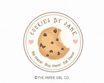 cookie logo bakery logo baking logo bakers logo premade logo sweet shop logo baking blog logo cookie shop logo home baking logo etsy logo