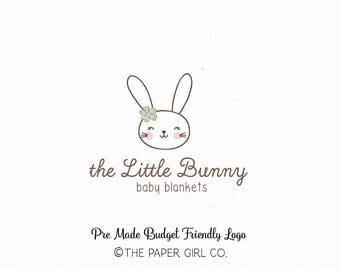 bunny logo baby logo children's logo sewing shop logo knitting shop logo crochet logo photography logo pre made logo boutique logo watermark