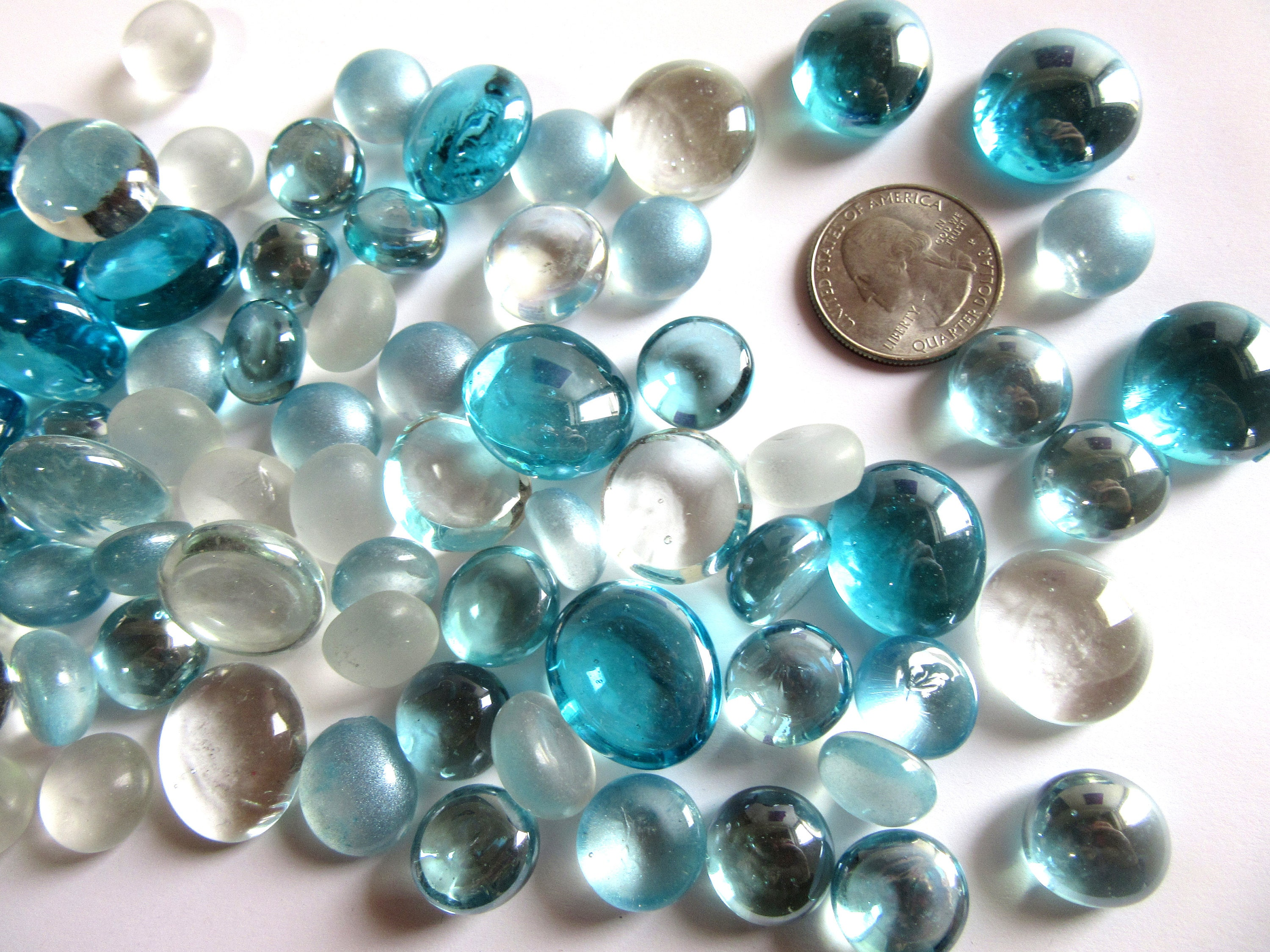 100 mixed color glass gems blue and clear vase fillers seafoam 100 mixed color glass gems blue and clear vase fillers seafoam blue flat marbles ocean blue decor marbles aqua vase fillers mixed size reviewsmspy