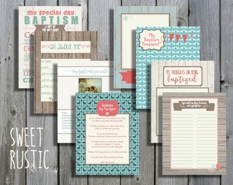 Sweet Rustic Girl LDS Baptism Printable Memory Book - Instant Download
