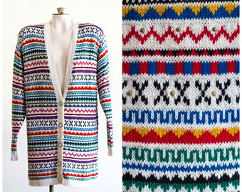 1980s oversize knit cardigan