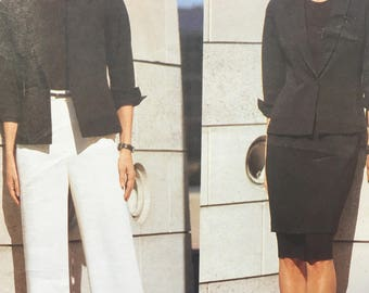 Vogue Sewing Pattern 2390 Anne Klein Casual Jacket Skirt and Pants Size 12-14-16
