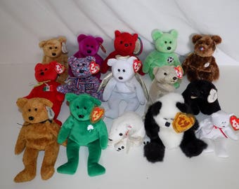 Large Lot Ty Beanie Baby Bears