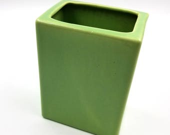 Bauer Spring Green Rectangle Vase