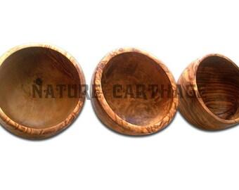 Olive Wood 3 bols set