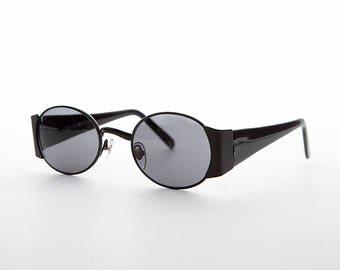 Oval Combo Vintage Sunglasses / Wide Temples -Tatum