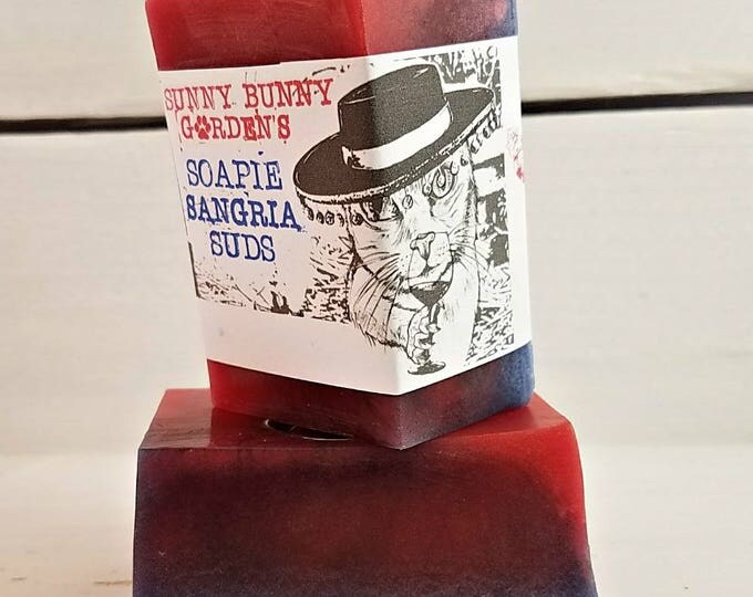 Sangria Soap Bar, Sangria Scented Soap, Unique Scented Soap, Soap for Wine Lovers, Stocking Stuffers, Organic Handmade Soap, Pretty Soap,