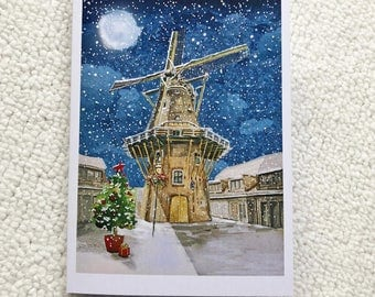 Christmas Cards Windmill Pack of 5
