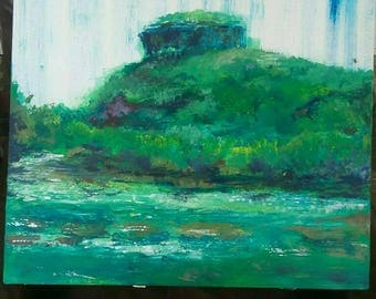 24x24 sugar loaf Mountain in Heber Springs Arkansas. Acrylic on canvas with clear coat and wood frame