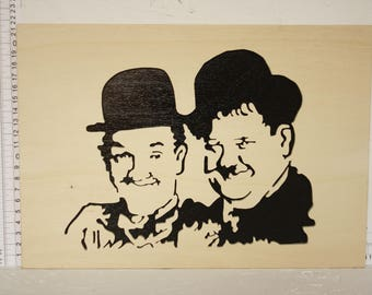 Table Laurel and Hardy