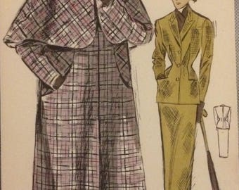 Fantastic early 1950s fashion prints.