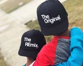 Baseball Hat | Big Brother | Little Brother | Matching Hats | Father and Son | Birthday | Twin Set | Kids | Mic Drop | Set of 4 | Custom