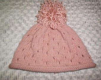 Handmade Pom Pom Baby Beani Hat