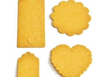 Set of 4 strong kraft for scrapbooking