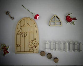 Christmas Wooden Fairy Door Theme Kits for you to decorate