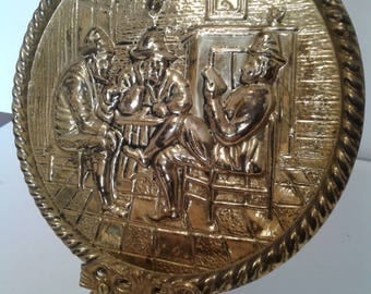 Vintage Brass Plaque by Peerage England