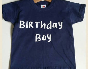 Personalised Birthday T-Shirt, 1st Birthday T- Shirt, Birthday Boy T-shirt,  2nd Birthday, 3rd Birthday, 4th Birthday, 5th Birthday