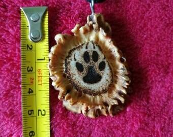 Elk horn carved pendant