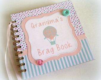 Grandma's Brag Book premade scrapbook album great for new baby gift new new grandparent