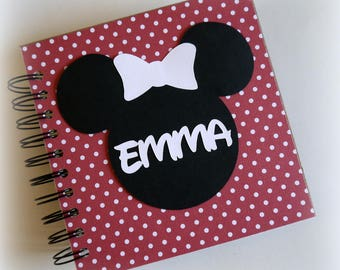 2018 80 pgs Polka Dot PERSONALIZED  Disney Autograph Book Scrapbook Use it as a Travel Journal Vacation Photo Book 202