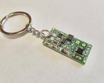 Colorful Techie Computer Geek Keychains, Repurposed Found Object Engineer Gifts, Unisex Punk Mixed Metal Industrial Multicolored Organizer
