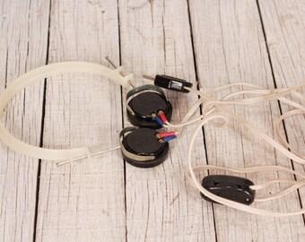 Vintage headphones, Radio headphones, TON-2 1600 Ohm headphones, Monitoring Headphones HAM RADIO, Telegraph headphones, Morse code headset