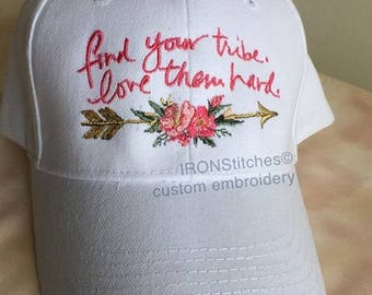 Find your tribe floral arrow hat