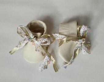 golden lace moccasins