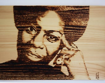 Pyrography on Pine