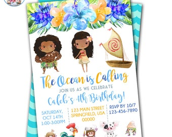 Moana Birthday, Moana Invitation, Moana Birthday Invitation, Moana Party, Moana Invite