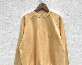 20% OFF Vintage Elle Paris Embroidery Big Logo Sweatshirt / Elle Sport Sweater / Elle Spell Out Shirt / Elle Crewneck / Elle Sport