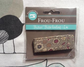 FLORAL bias Taupe - Frou-Frou
