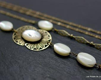 Luna Pearl long necklace art deco, art deco necklace