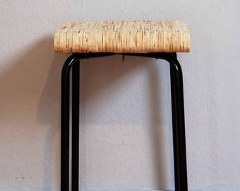 A stool of recycled wood