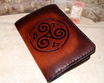 "Celtic"" decorated leather wallet"
