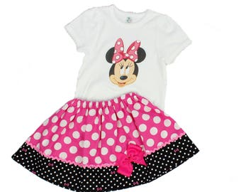 Girl Minnie birthday outfit Minnie Girl outfit girl Minnie dress toddler Minnie clothes Minnie girl name age outfit toddler Minnie dress