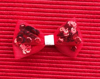 Hearts sequin bow, hair bow, bow, hair accessory, pom pom bow, think pink bow, bows, popular headbands, newborn starter set
