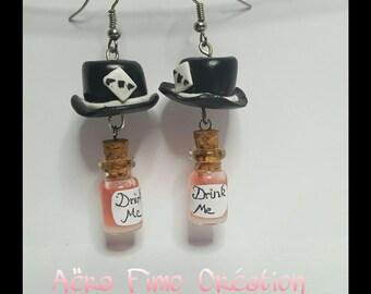 "Earring ""Hat and bottle"""