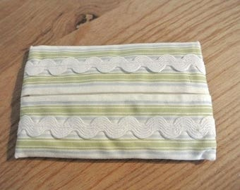 Case handkerchiefs striped and white rickrack