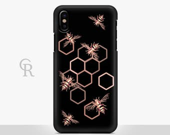 Bee Phone Case For iPhone 8 iPhone 8 Plus iPhone X Phone 7 Plus iPhone 6 iPhone 6S  iPhone SE Samsung S8 iPhone 5 Samsung S8 Plus S7 Edge