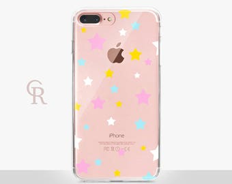 Star Clear Phone Case For iPhone 8 iPhone 8 Plus iPhone X Phone 7 Plus iPhone 6 iPhone 6S  iPhone SE Samsung S8 iPhone 5 Transparent