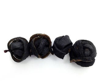 SALE 10% OFF Balls, black, orange peel, 18-30mm, 4 PCs, P